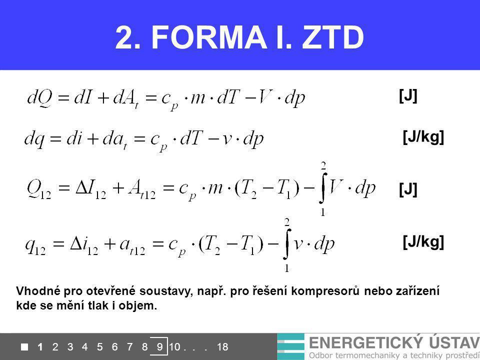 2. FORMA I. ZTD [J] [J/kg] [J] [J/kg]